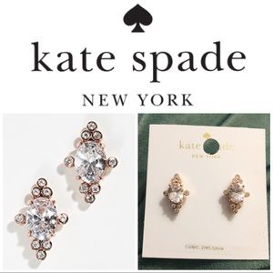 NWT Kate Spade CZ cluster earrings